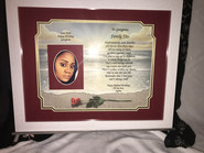 GIAF/Gift in a Frame - w/Friendship Poem - Large (ordered for birthday)