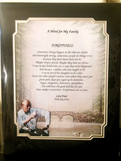 "GIAF/Gift in a Frame - ""Lesson For My Family"" - Large"