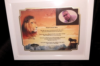 GIAF/Gift in a Frame - Poem - Large - (birthday gift)