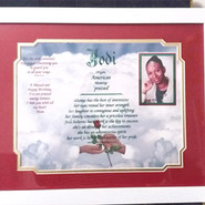 GIAF/Gift in a Frame - Name Meaning - Large (ordered for birthday)