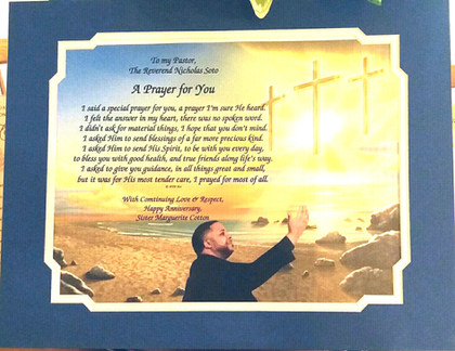 GIAF/Gift in a Frame - Prayer - Large (pastoral gift)