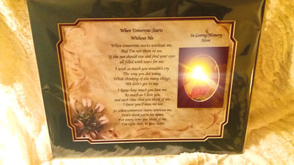 GIAF/Gift in a Frame - Funeral Poem - Large (Memorial Gift)