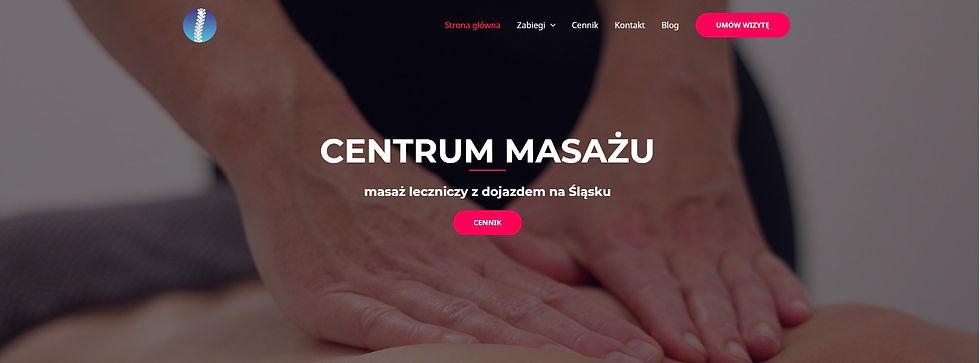 strona internetowa Centrum Masażu