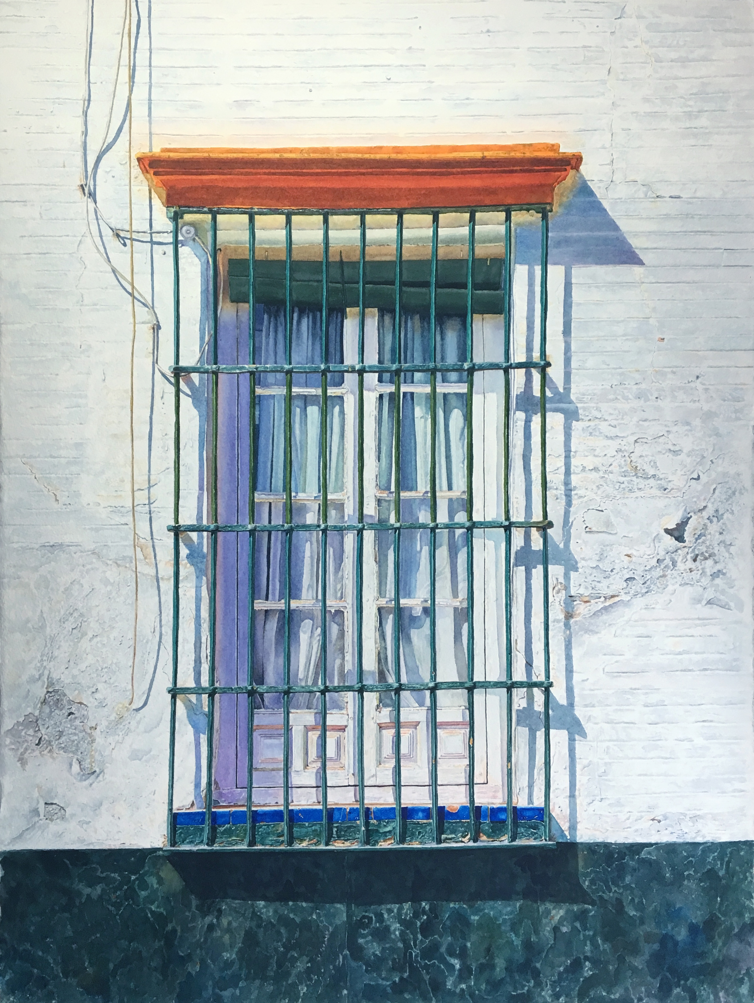 Spanish Window 1 | Arches Watercolor Paper Coldpress 300lb