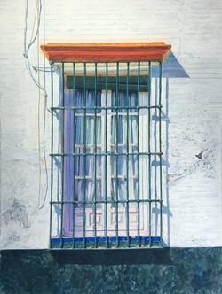 Spanish Window 1   Arches Watercolor Paper Coldpress 300lb