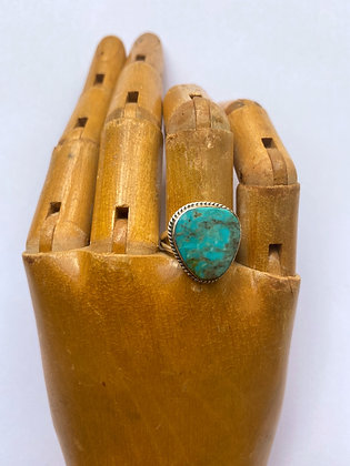 Sterling Silver & Turquoise Milton Lee Native American Ring