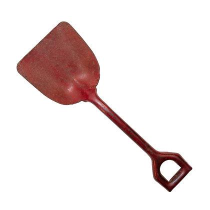 Primitive Red Cast Iron Shovel