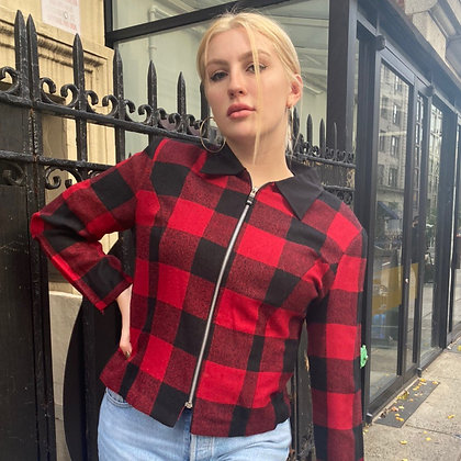 Betsy's Things Checkered Zip