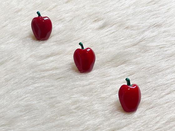Lot of 3 Vintage Apple Lapel Pins