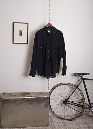 90s Sheer Versace Button-Down Shirt
