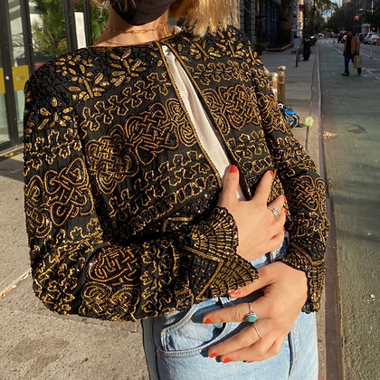 Vintage Adrianna Papell Silk Beaded Beauty