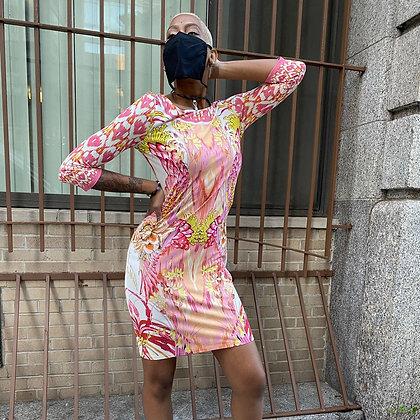 Roberto Cavalli Pink Dress