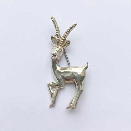 Mexico Silver Impala Gazelle Brooch/Pin