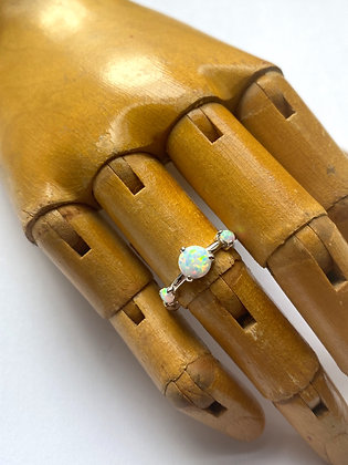 Sterling Silver & Synthetic Opal Ring