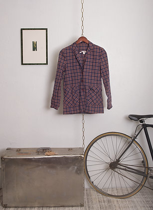 Vintage Plaid Shirt/Jacket with Pockets