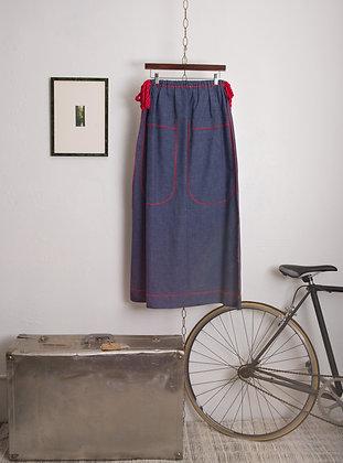 Vintage Denim Maxi Skirt