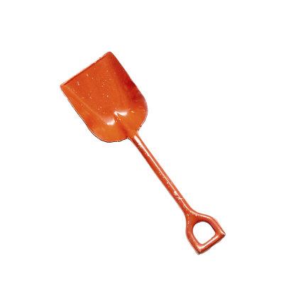 Primitive Orange Cast Iron Shovel