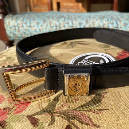 """Be Yourself"" vintage leather belt by Brighton"