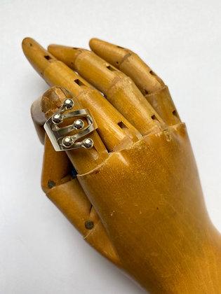 Ana Greta Eker Sterling Silver Jester Ring