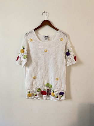 80s Fruit Salad Crocheted Top