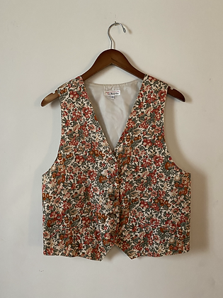 80s/90s Pink and Red Talbots Vest