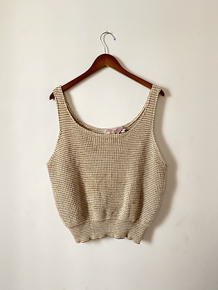 French Connection 80s Crocheted Tank