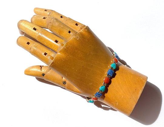 Carolyn Pollack Sterling Silver Multi-Stone Heart Bracelet