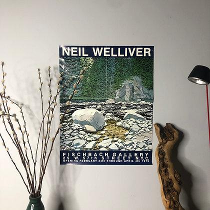 Neil Welliver Fischback Gallery Poster