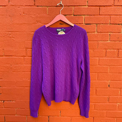 Ralph Lauren Purple Cashmere Sweater