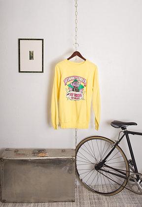 Vintage Yellow Sesame Street Sweatshirt