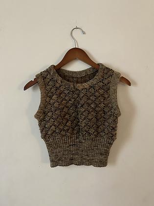 70s/80s Shrunken Sleeveless Sweater