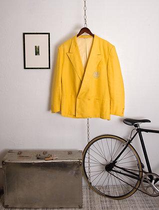 Vintage Gianni Versace Yellow Linen Blazer