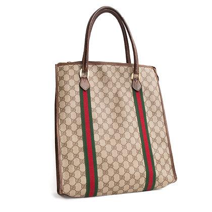 Vintage Gucci Monogram Tote Bag