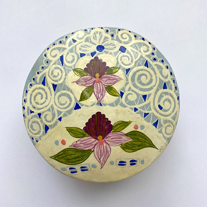 Hand-Painted Floral Trinket Box