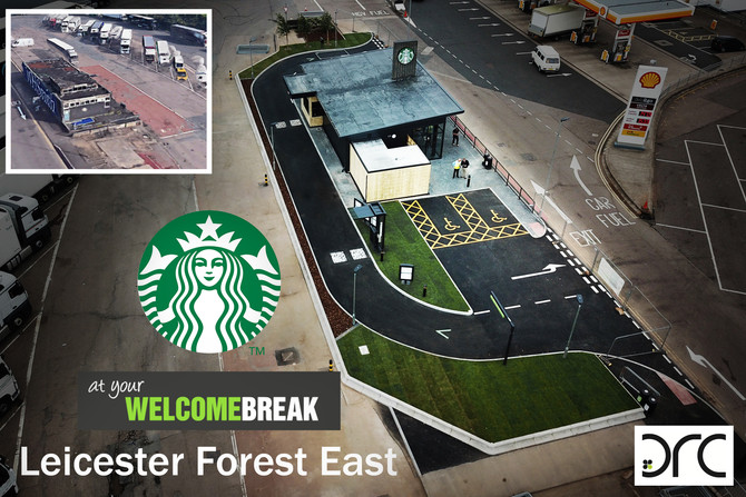 DRC completes latest Project For Starbucks & Welcome Break.
