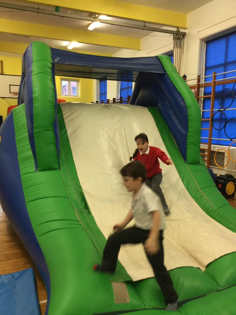 We had lots of fun on the inflatables! We deserved it after all of our hard work this half term!