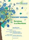 Concert 2018 de Donnaccord, choeur de femmes, Blonay
