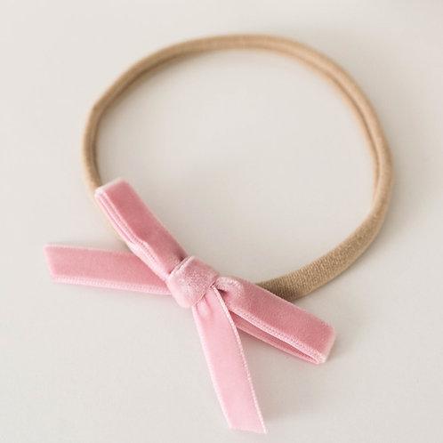Velvet bows for babies