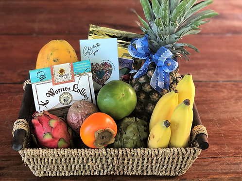 Local tropical fruit basket