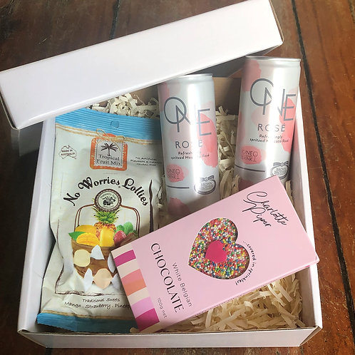Wine and chocolate pamper gift