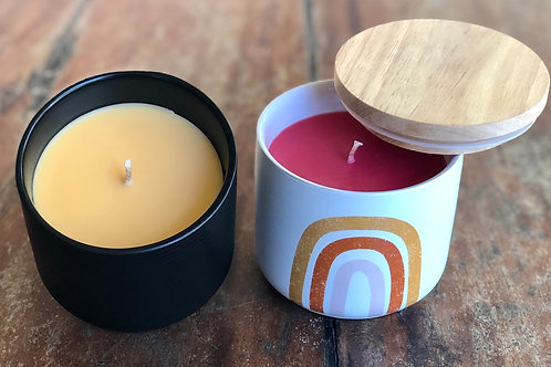 Ceramic soy candles