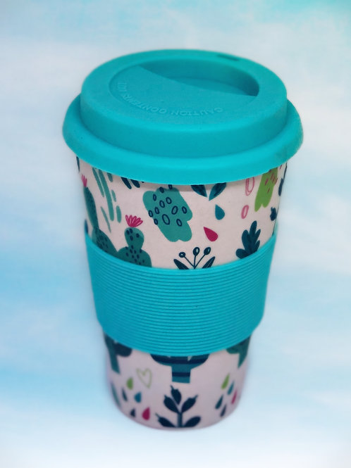Funky cactus eco travel cup
