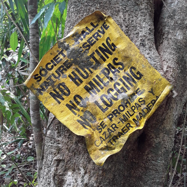 No Hunting Sign Reserve Belize