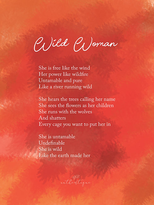 Wild Woman Kaart A5