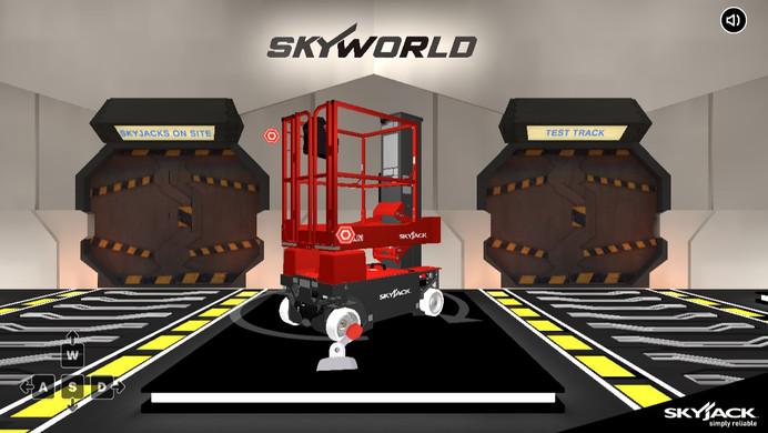 SKYWORLD - 3D WEBSITE