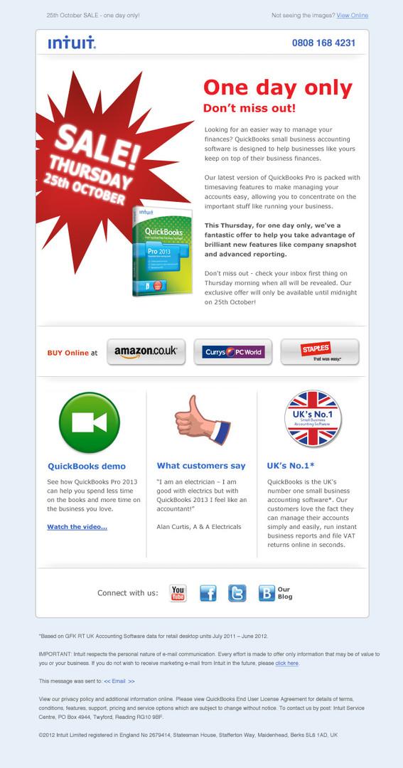 Intuit e-marketing