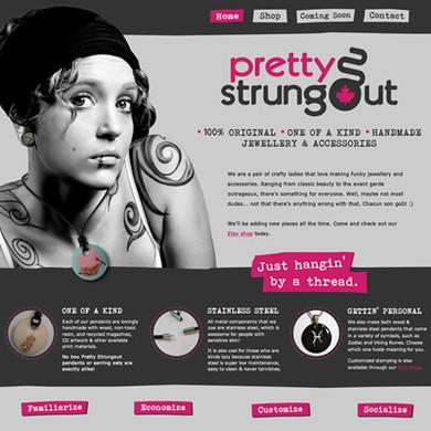 Pretty Strungout website
