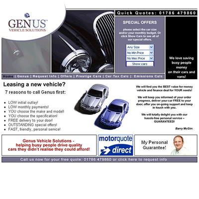 Genus Cars website