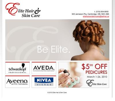Elite Hair website