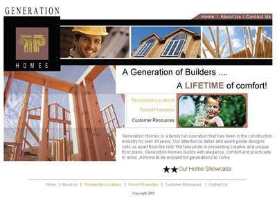 Generation Homes website